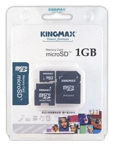 Kingmax microSD + 2 adapters