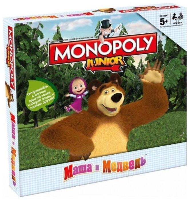 Настольная игра Hasbro games Monopoly Моя первая монополия. Маша и медведь