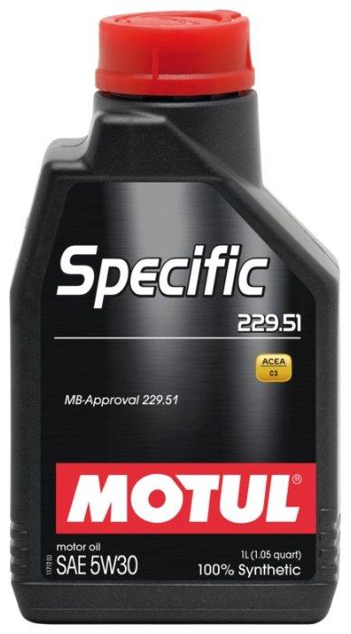 Моторное масло Motul Specific 229.51 5W30 1 л