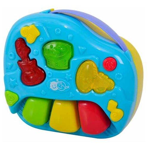 Интерактивная развивающая игрушка PlayGo 2 in 1 Telephone and Band желтый/голубой