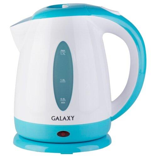 Чайник Galaxy GL0221, голубой/белый чайник galaxy gl0301 белый