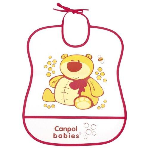 Canpol Babies Нагрудник Soft Plastic bib, 1 шт , расцветка: красныйНагрудники и слюнявчики<br>