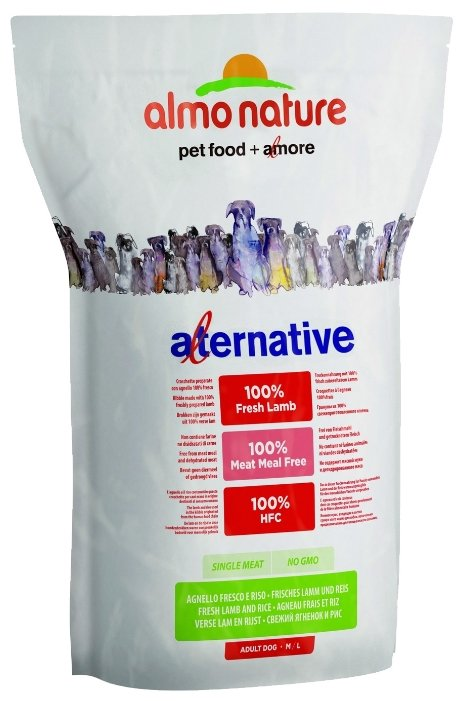 Корм для собак Almo Nature Alternative ягненок с рисом 3.75 кг
