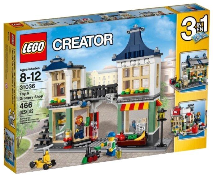 Классический конструктор LEGO Creator 31036 Магазин по продаже игрушек и продуктов