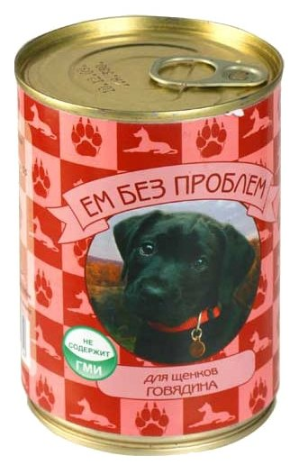 Корм для собак Ем Без Проблем Консервы для щенков Говядина