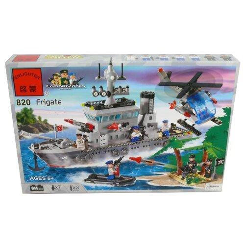 Конструктор Qman CombatZones 820 Военный корабль (крейсер) конструктор qman combatzones 1712 военная база