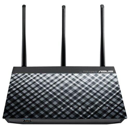 Wi-Fi роутер ASUS RT-N18U черный wi fi роутер asus dsl ac88u dsl ac88u