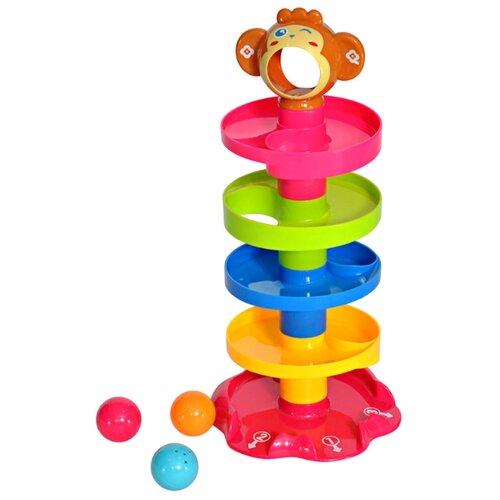 Купить Развивающая игрушка everflo Пирамидка Обезьянка разноцветный, Развивающие игрушки