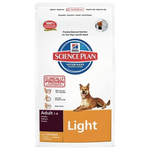 Hill's Science Plan Canine Adult Light with Chicken (2 кг) Корма для собак