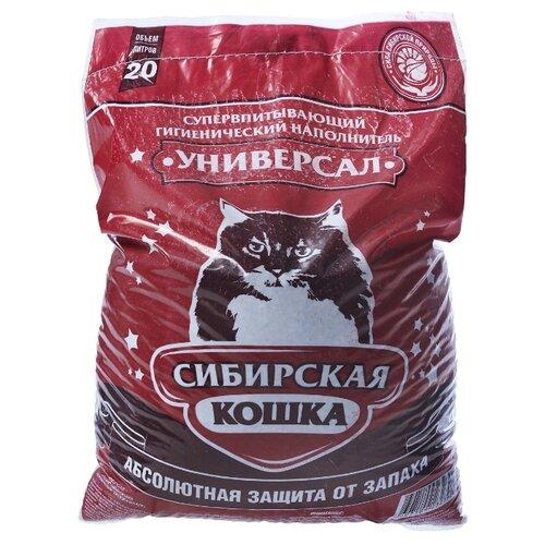 Впитывающий наполнитель Сибирская кошка Универсал, 20 л