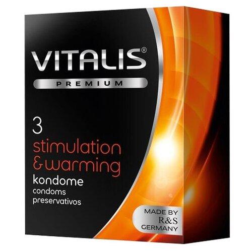 Презервативы VITALIS Stimulation  Warming (3 шт.).
