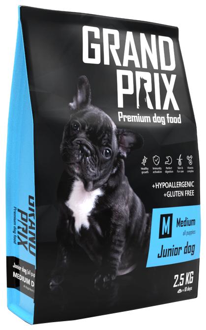 Корм для собак GRAND PRIX (2.5 кг) Medium Junior dog птица злаки