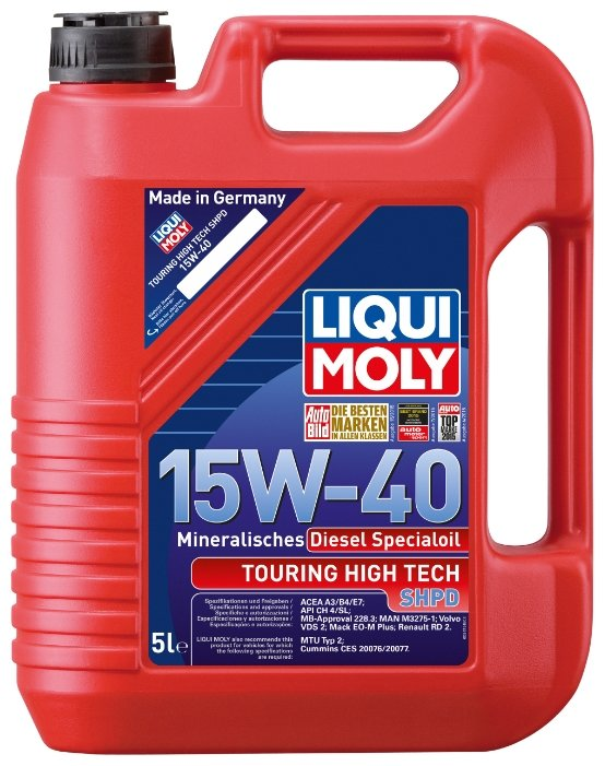 Моторное масло LIQUI MOLY Touring High Tech SHPD-Motoroil 15W-40 Basic 5 л