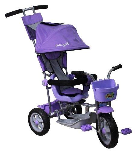 Велосипед трехколесный R-Toys Galaxy Лучик с капюшоном Фиолетовый