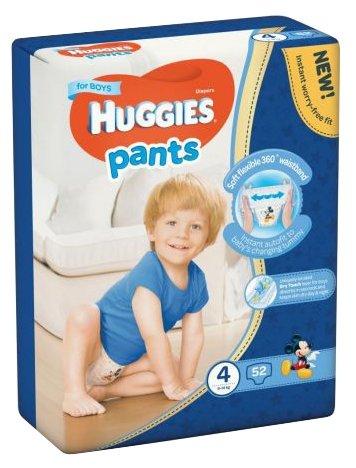 Huggies трусики для мальчиков 4 (8-14 кг) 52 шт.