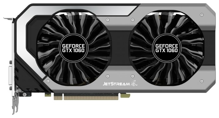 Palit GeForce GTX 1060 1506Mhz PCI-E 3.0 6144Mb 8008Mhz 192 bit DVI HDMI HDCP JetStream