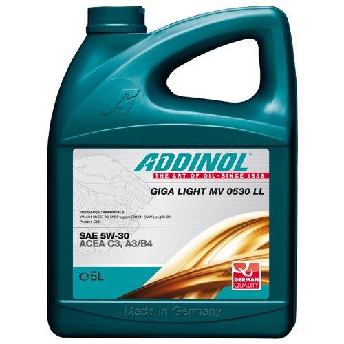 Моторное масло ADDINOL Giga Light MV 0530 LL SAE 5W-30 5 л