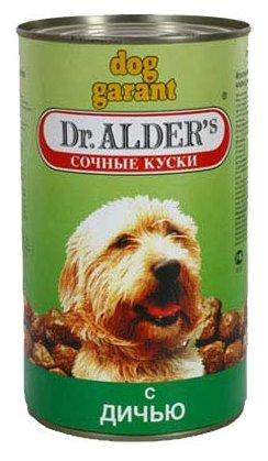 Корм для собак Dr. Alder`s ДОГ ГАРАНТ дичь кусочки в желе Для взрослых собак (1.2 кг) 6 шт.