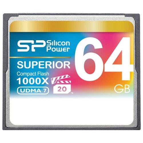 Фото - Карта памяти Silicon Power Superior CF 1000X 64 GB, чтение: 150 MB/s, запись: 80 MB/s флеш карта cf 32gb silicon power 1000x