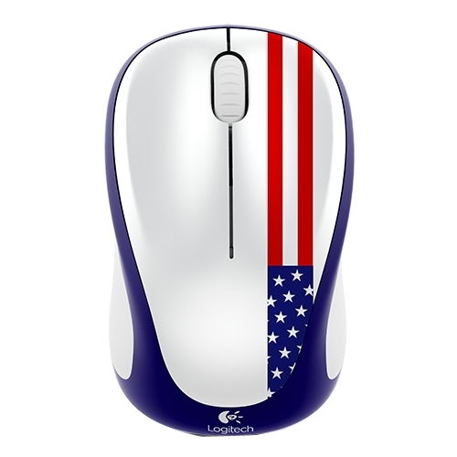 Мышь Logitech Wireless Mouse M235 910-004050 White-Blue-Red USB