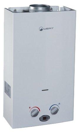 Газовый проточный водонагреватель wert 10lc белый