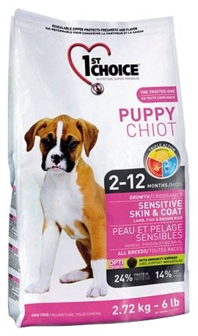 Корм для собак 1st Choice Sensitive skin and coat ALL BREEDS for PUPPIES