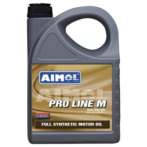 Моторное масло Aimol Pro Line M 5W-30 4 л моторное масло aimol pro line f 5w 30 1 л 8717662396557