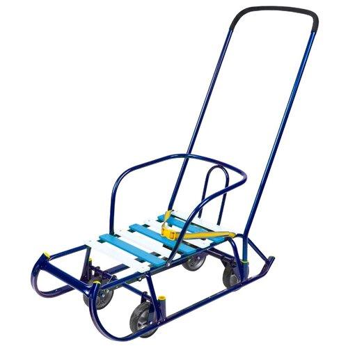 Купить Санки Nika Тимка 6 Универсал (Т6У) синий лак, Санки и аксессуары