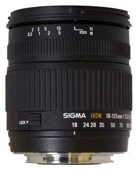 Объектив Sigma AF 18-125mm f/3.5-5.6 DC Canon EF-S