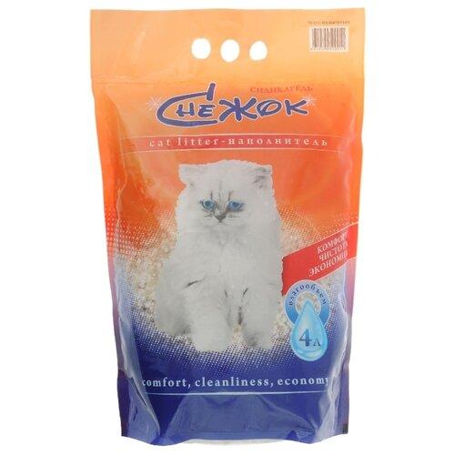 Наполнитель Снежок Силикагель (4 л)Наполнители для кошачьих туалетов<br>