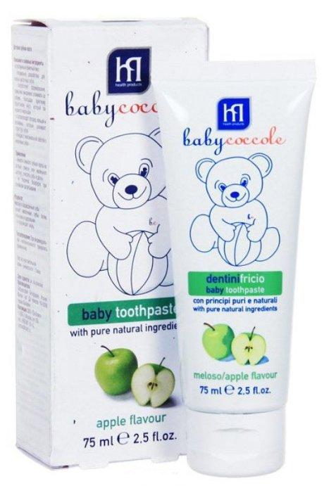 Babycoccole Зубная паста со вкусом яблока от 1 года