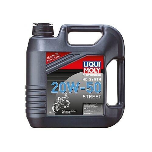 Синтетическое моторное масло LIQUI MOLY Motorbike HD Synth Street 20W-50, 4 л по цене 4 739