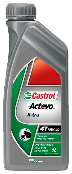 Моторное масло Castrol Act>Evo X-tra 4T 10W-40 1 л
