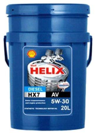 Моторное масло SHELL Helix HX7 Diesel AV 5W-30 20 л
