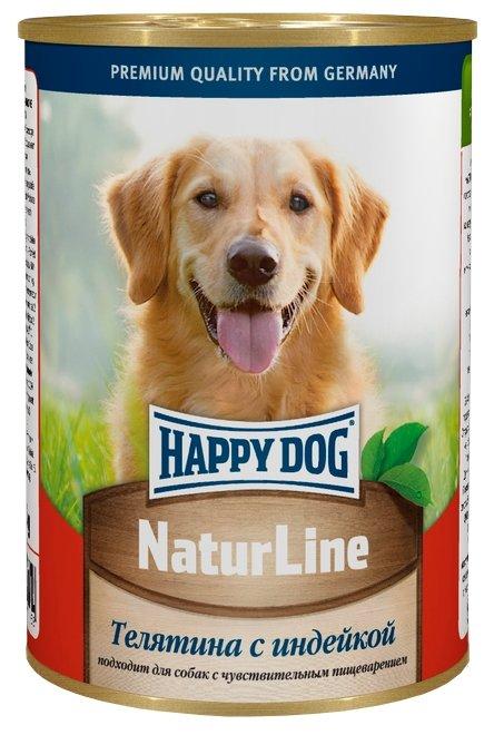 Корм для собак Happy Dog NaturLine индейка, телятина 20шт. х 400г