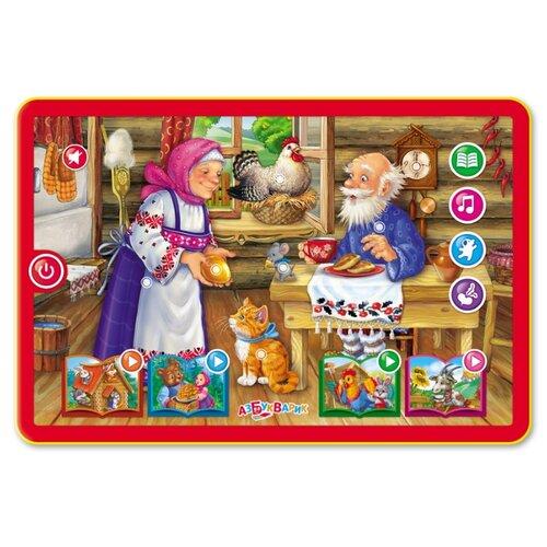 Планшет Азбукварик Курочка Ряба и другие сказки красный/желтый планшет