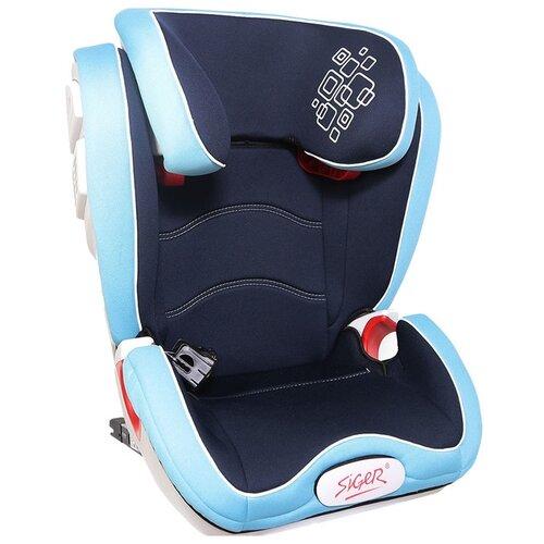 Автокресло группа 2/3 (15-36 кг) Siger Олимп Isofix, синий автокресло capella 15 36 кг isofix группа 2 3 цв blue синий меланж китай gl000730581