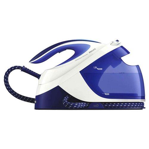 Парогенератор Philips GC8712 PerfectCare Performer синий/белый парогенератор philips perfectcare elite silence gc9642