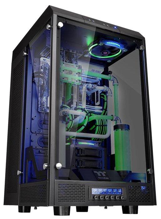 Корпус Thermaltake Premium the tower 900 (ca-1h1-00f1wn-00) window, black, без бп, e-atx