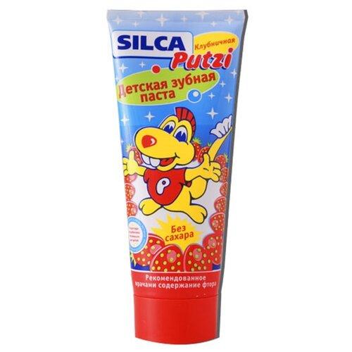 Зубная паста SILCA Putzi Клубника 2-12 лет, 75 мл детская зубная паста silca putzi кальций 50 мл