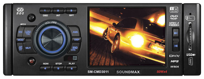 Автомагнитола SoundMAX SM-CMD3011