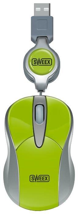 Мышь Sweex MI055 Mini Optical Mouse Lime Green USB