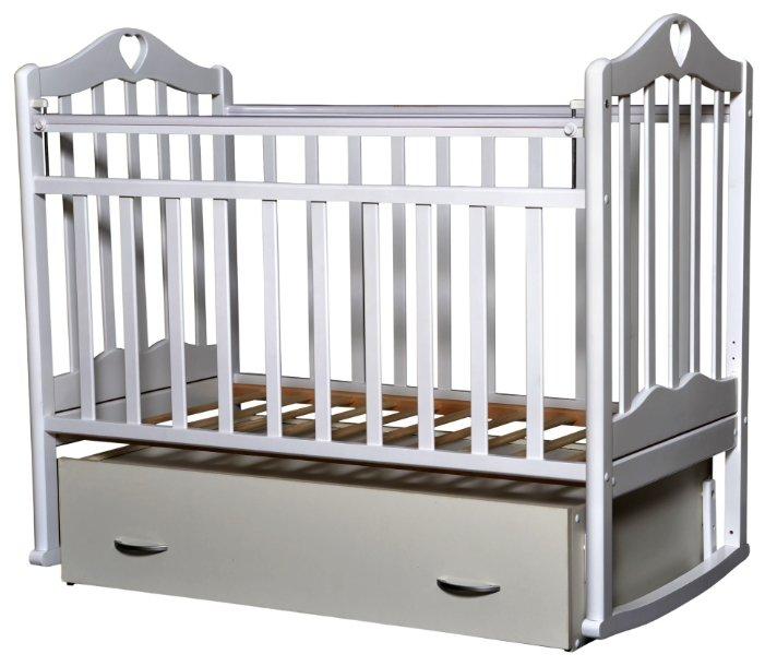 Кроватка Антел Каролина-4 (поперечный маятник   ящик)