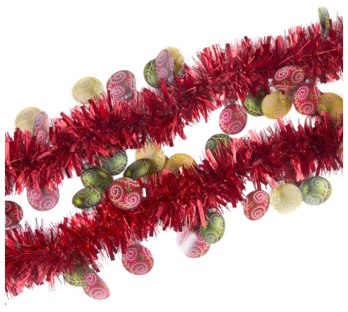 Мишура Феникс Present новогодняя с елочными шарами