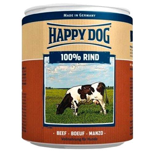 Влажный корм для собак Happy Dog 100% Мясо Фермерский продукт, говядина 400 г