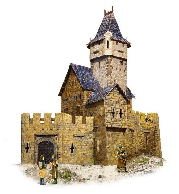 Сборная модель Умная Бумага Охотничий замок (294),,