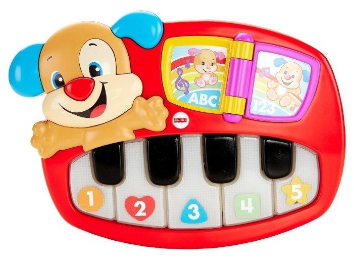 Интерактивная развивающая игрушка Fisher-Price Смейся и учись. Пианино Щенка (DLK15)