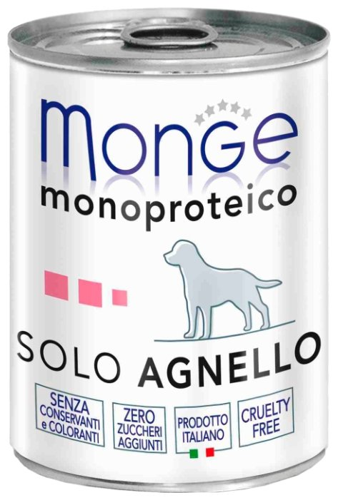 Корм для собак Monge Monoprotein ягненок 24шт. х 400г
