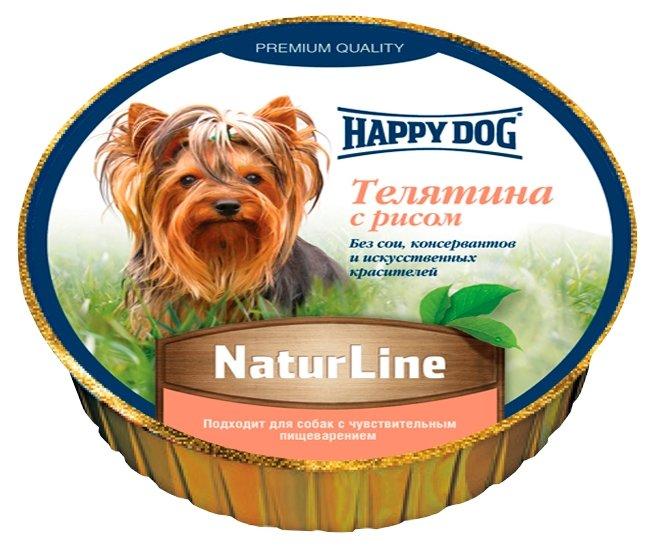 Корм для собак Happy Dog NaturLine телятина с рисом 125г