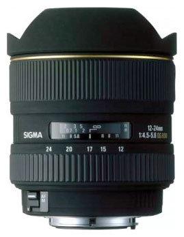 Объектив Sigma AF 12-24mm f/4.5-5.6 EX DG Aspherical HSM Nikon F
